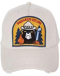 DSquared² | Bear Patch Gabardine Baseball Hat | Lyst