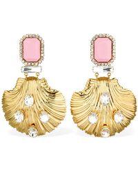 Alessandra Rich - Pendant Clip-on Earrings - Lyst