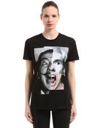 DIEGOVENTURINO - Dali Warhol Print Jersey T-shirt - Lyst