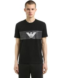 EA7 - Train Logo Printed Jersey T-shirt - Lyst