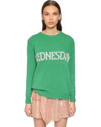Alberta Ferretti - Oversized Wednesday Wool Blend Sweater - Lyst
