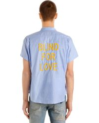 Gucci - Blind For Love Pinpoint Bowling Shirt - Lyst