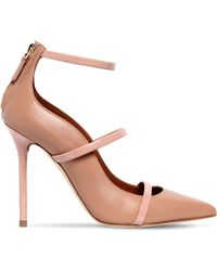 Malone Souliers - 100mm Robyn Straps Leather Court Shoes - Lyst