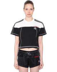 e12f9ee3dae58 Alexander Wang - Logo Cotton Cropped T-shirt - Lyst