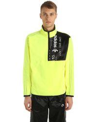 Alexander Wang - Half Zip Fleece Sweatshirt - Lyst