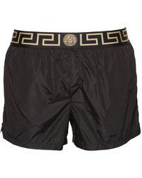 Versace - Logo Nylon Swim Shorts - Lyst