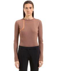 Nina Ricci - Wool Knit Jumper W/ Elbow Cutouts - Lyst