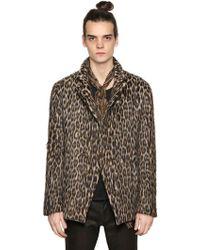 John Varvatos   Leopard Double Breasted Wool Jacket   Lyst