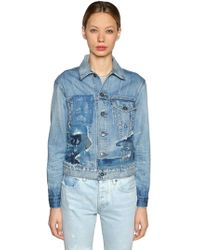 Levi's - Patchwork Denim Trucker Jacket - Lyst