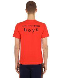 Comme des Garçons - T-shirt En Jersey De Coton Avec Logo - Lyst