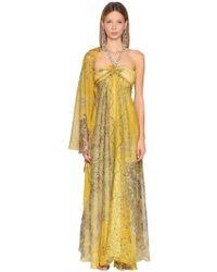 Etro - Vestido De Seda Georgette Estampado - Lyst
