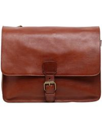 Officine Creative - Brushed Leather Messenger Bag - Lyst