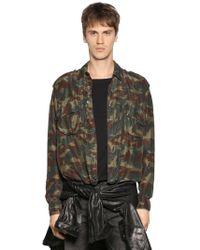 Faith Connexion | Camouflage Silk Satin Shirt | Lyst