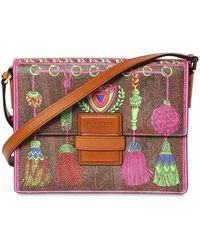 Etro - Rainbow Printed Faux Leather Bag - Lyst
