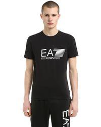 EA7 - Training Logo Printed Cotton T-shirt - Lyst