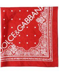 Dolce & Gabbana - Logo Printed Cotton Bandana - Lyst