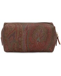 Etro - Paisley Printed Faux Leather Zip Case - Lyst