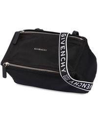 Givenchy - Mini Pandora Nylon Bag W/ Logo Strap - Lyst