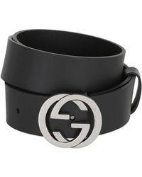 Gucci - 37mm Interlocking G Buckle Leather Belt - Lyst