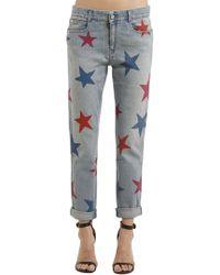 Stella McCartney - Skinny Boyfriend Stars Denim Jeans - Lyst