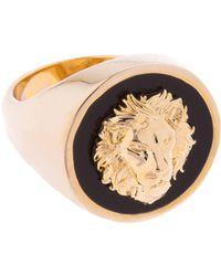 Versus    Lion Head Metal Ring   Lyst