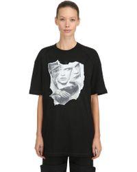 NICOLÒ TONETTO MILANO - Flax Olga Printed Cotton Jersey T-shirt - Lyst
