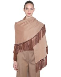 Max Mara - Cashmere Scarf With Fringe - Lyst