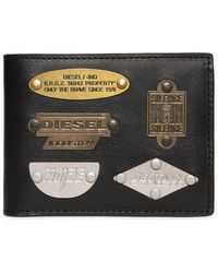 DIESEL - Metal Plaques Leather Wallet - Lyst