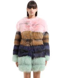 Vladimiro Gioia | Striped Fox Fur Coat | Lyst