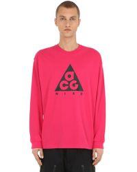 "Nike - T-shirt ""m Nrg Acg"" In Cotone - Lyst"