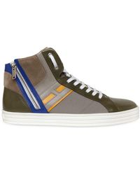 Hogan Rebel - Leather & Papirok High Top Trainers - Lyst