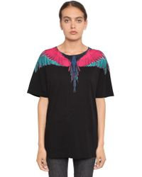 Marcelo Burlon | Wings Print Cotton Jersey T-shirt | Lyst