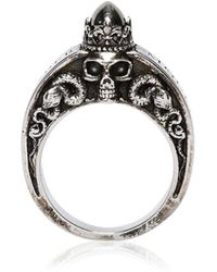 Alexander McQueen - Skulls & Snakes Engraved Ring - Lyst