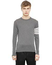 Thom Browne | Intarsia Stripes Merino Wool Sweater | Lyst