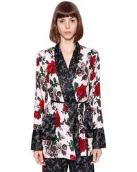 Equipment - Kimono In Seta Stampa Floreale - Lyst