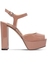 Sergio Rossi - 125mm Patent Leather Sandals - Lyst