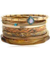 Iosselliani - Set Of 7 Bangle Bracelets - Lyst