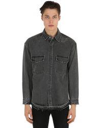 The Kooples - Camisa De Denim Oversize Desgastada - Lyst