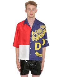 Versace - Bowlinghemd Aus Seide Mit Druck - Lyst