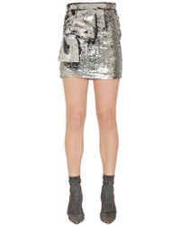 Daniele Carlotta - Sequined Mini Skirt W/ Bow Detail - Lyst