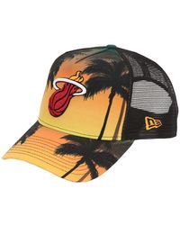 KTZ - Miami Heat Coastal Heat Trucker Hat - Lyst
