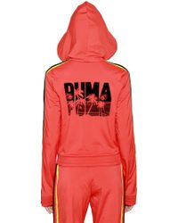 PUMA - Hooded Palm Print Zip-up Track Jacket - Lyst