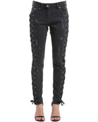 Versus - Zayn X Denim Jeans W/ Laces - Lyst