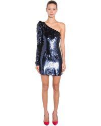 Amen - Sequined Asymmetrical Mini Dress - Lyst