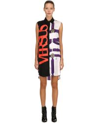 Versus - Belts & Logo Sleeveless Shirt Dress - Lyst