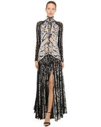 Roberto Cavalli - Animalier Jacquard Knit Dress - Lyst