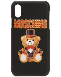 Moschino - Logo Embossed Iphone X Cover - Lyst