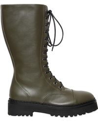 Moschino - 40mm Leather Combat Boots - Lyst