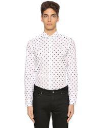 KENZO - Slim Fit Eyes Printed Poplin Shirt - Lyst