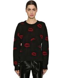 Sonia Rykiel - Lips Wool Jacquard Knit Sweater - Lyst